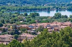 Vista panorâmica de Bolsena. Lazio. Italia. Fotografia de Stock