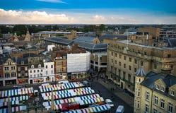 Vista panorâmica de Cambridge, Reino Unido imagens de stock