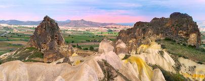 Vista panorâmica de Cappadocia Fotos de Stock