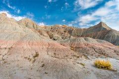 Vista panorâmica de características Geological do ermo imagens de stock royalty free