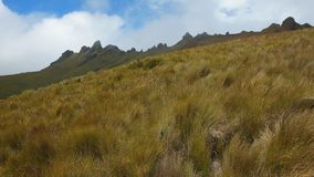 Vista panorâmica de Cerro Puntas na área perto da vila de Checa Fotografia de Stock