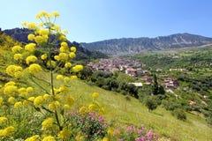 Vista panorâmica de Civita, Calabria, Itália foto de stock royalty free