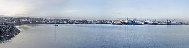 Vista panorâmica de Hafnarfjordur imagens de stock