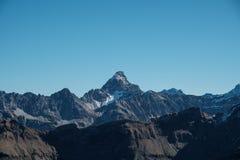 Vista panorâmica de Hochvogel máximo nos cumes de Allgaeu, Alemanha Fotografia de Stock Royalty Free