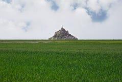 Vista panorâmica de Le Mont Saint Michel imagem de stock royalty free