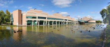 Vista panorâmica de Markham Civic Center fotografia de stock