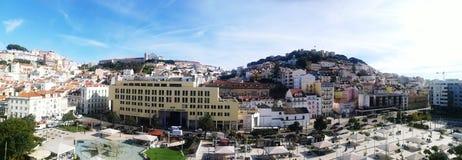 Vista panorâmica de Martim Moniz em Lisboa Fotografia de Stock