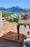 Vista panorâmica de Morano Calabro Calabria Italy Imagem de Stock