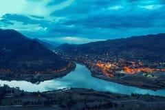 Vista panorâmica de Mtskheta Fotografia de Stock Royalty Free