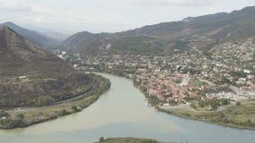 Vista panorâmica de Mtskheta, Geórgia video estoque
