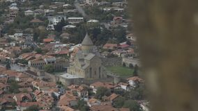 Vista panorâmica de Mtskheta, Geórgia filme