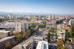 Vista panorâmica de Novi Sad, Serbia imagem de stock