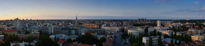 Vista panorâmica de Novi Sad, Serbia Fotografia de Stock Royalty Free