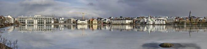 Vista panorâmica de Reykjavik imagem de stock