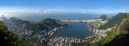 Vista panorâmica de Rio De janeiro, paisagem de Brasil foto de stock
