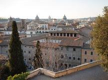 Vista panorâmica de Roma de Campidoglio fotografia de stock royalty free