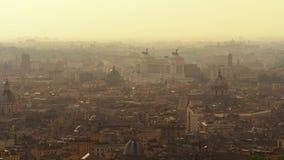 Vista panorâmica de Roma em 4k filme