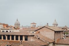Vista panorâmica de Roma, Lazio, Itália imagens de stock