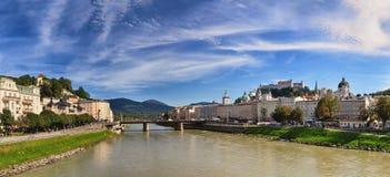 Vista panorâmica de Salzburg fotografia de stock royalty free