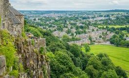 Vista panorâmica de Stirling Castle, Escócia fotos de stock royalty free