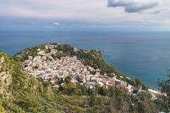 Vista panorâmica de Taormina Fotos de Stock Royalty Free