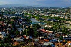 Vista panorâmica de Tbilisi, Geórgia foto de stock