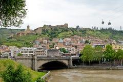 Vista panorâmica de Tbilisi velho, Republic of Georgia Imagem de Stock Royalty Free