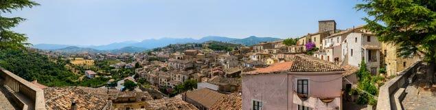 Vista panorâmica de Tomaso Campanella Square, Altomonte Imagem de Stock Royalty Free