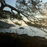 Vista panorâmica de Tossa de Mar - Costa Brava imagens de stock