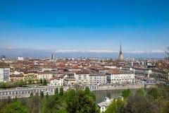 Vista panorâmica de Turin, Itália fotografia de stock