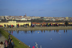 Vista panorâmica de Viena Imagens de Stock Royalty Free