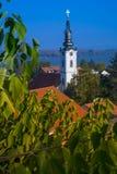Vista panorâmica de Zemun, Belgrado imagem de stock royalty free