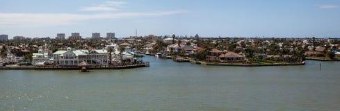 A vista panorâmica dirigiu em Marco Island, Florida fotografia de stock royalty free