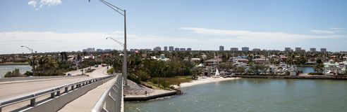 A vista panorâmica dirigiu em Marco Island, Florida fotos de stock royalty free