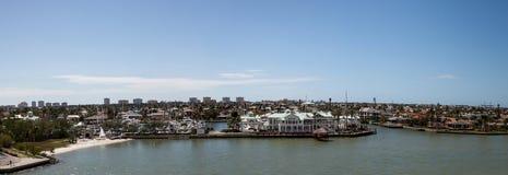 A vista panorâmica dirigiu em Marco Island, Florida imagens de stock royalty free