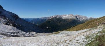 Vista panorâmica do cenário bonito da montanha da dolomite em Tirol sul Fotografia de Stock Royalty Free