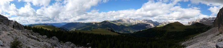 Vista panorâmica do cenário bonito da montanha da dolomite em Tirol sul Imagem de Stock Royalty Free