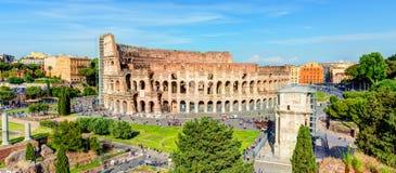Vista panorâmica do Colosseum (coliseu) em Roma Fotografia de Stock Royalty Free
