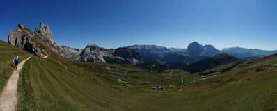 Vista panorâmica do cume do mastle em Val Gardena Fotos de Stock