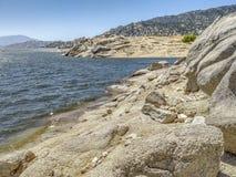 Vista panorâmica do lago e da montanha isabella imagem de stock