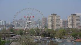 Vista panorâmica do lapso de tempo do parque Tianjin China da água video estoque