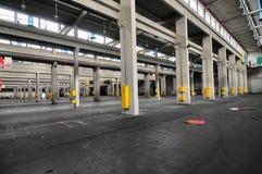 Vista panorâmica do local de planta industrial vazio para comércios justos internacionais Imagens de Stock Royalty Free