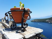Vista panorâmica do Mar Egeu imagem de stock