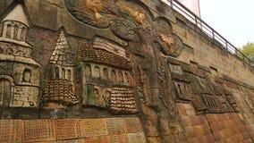 Vista panorâmica do memorial de guerra do Velho Mundo em Sighnaghi, em história e em turismo video estoque