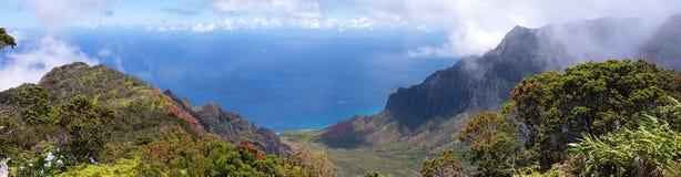 Vista panorâmica do parque estadual da garganta de Waimea Imagens de Stock