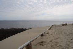 Vista panorâmica em dunas, Lituânia. Fotografia de Stock Royalty Free
