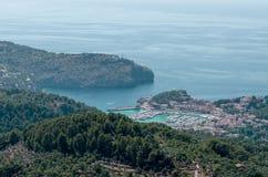 Vista panorâmica em Porto de Soller Imagens de Stock
