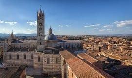 Vista panorâmica em Siena, Toscana, Itália Fotos de Stock Royalty Free