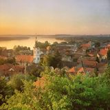 Vista panorâmica em Zemun do ¡ de GardoÅ imagens de stock royalty free