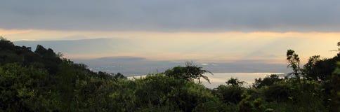 Vista panorâmica na área da conservação de Ngorongoro, Tanzânia foto de stock royalty free